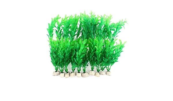 Amazon.com : eDealMax Ornamento de la planta de agua acuario plástico emulational 23 x 8 cm de Alto 10pcs : Pet Supplies