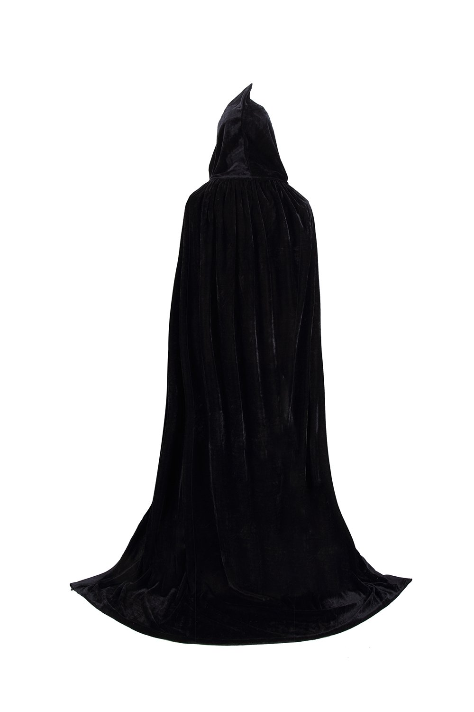 Tuliptrend Unisex Hooded Cloak Costume Party Cape Wedding Cape US-L (Tag size XL