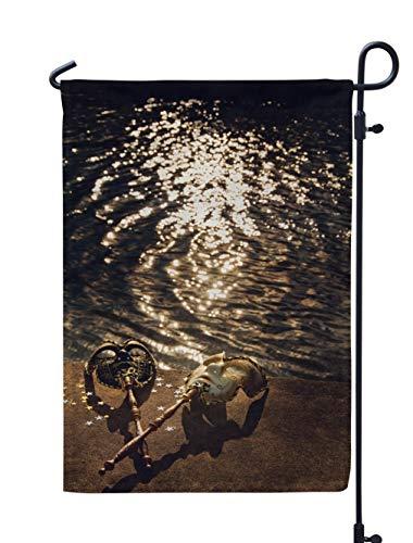 KJONG Vintage Carnival Garden Flag 12x18 inch Venetian River Mask Ball Love Gold Carnival Dream Fantasy Strange Weatherproof Double Sided Outdoor Flags for Yard Patio House Decorations ()