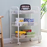 SINGAYE Utility Cart Wire Rolling Storage Cart with