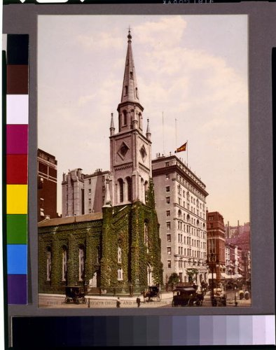 hoto: Marble Collegiate Church,hotels,spire,buildings,Holland House, York,NY,c1901 ()