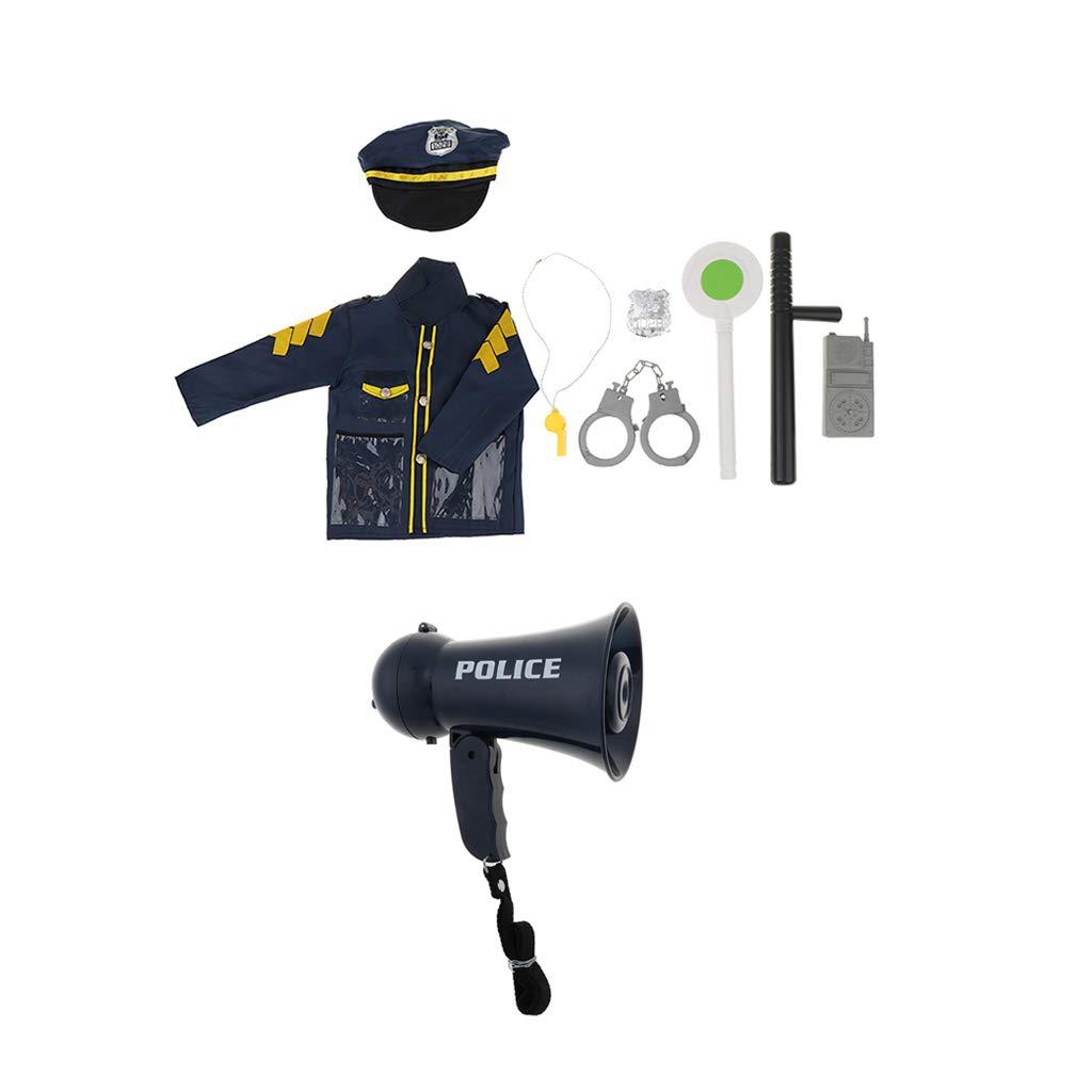 CUTICATE Juego de 9 Piezas Traje de Policía para Disfraz Fiestas ...