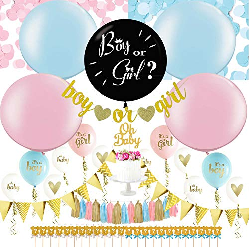 Gender Reveal Party Supplies | 36 Gender Reveal Balloon, Baby Shower Decorations Set, Baby Gender Reveal Party Supplies, Baby Reveal Party Supplies, Gender Reveal Ideas, Gender Reveal Decorations KIT