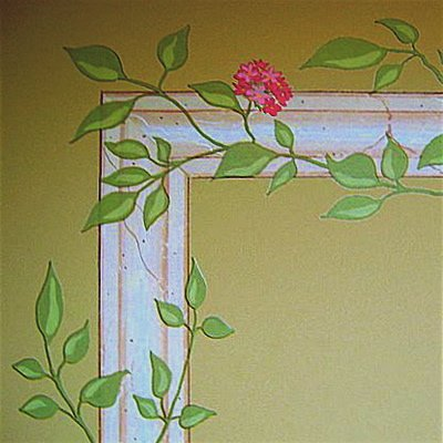 Flowering Vine Rub On Transfer Mural -Decorative Painting Wall Tattoo