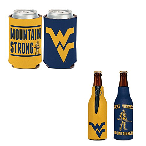 (WinCraft Bundle - 2 Items: West Virginia Bottle Cooler and Can Cooler)