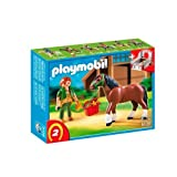 Playmobil Shire Horse with Groomer and Stable by PLAYMOBIL [Toy]