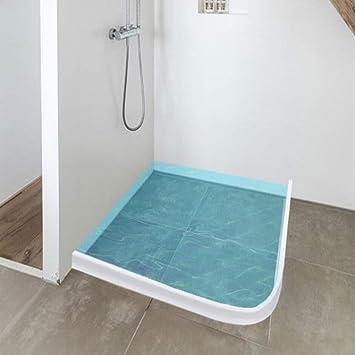 Perfil flexible de silicona de 50 cm para ducha o suelo del baño; banda impermeable para ducha, barrera de ducha para el cuarto de baño. Color transparente: Amazon.es: Bricolaje y herramientas