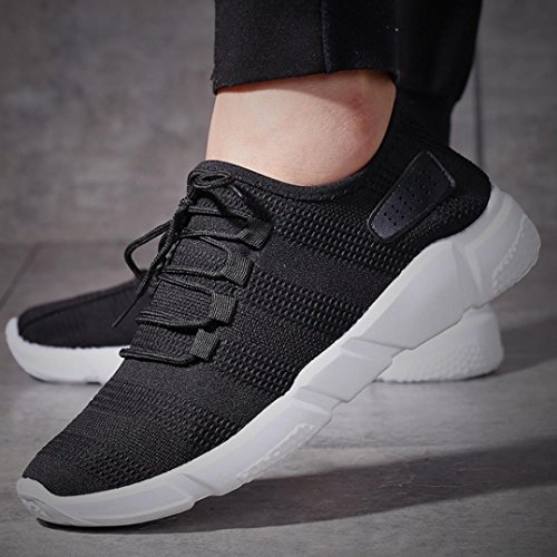 Fashion Shoes Shoes Casual Casual Running Men's Fitness Trainers Running Gym Jogging Sneakers Bovake Black Solid Shoes Lightweight Sneakers Sports Straps qUtd1qEwx