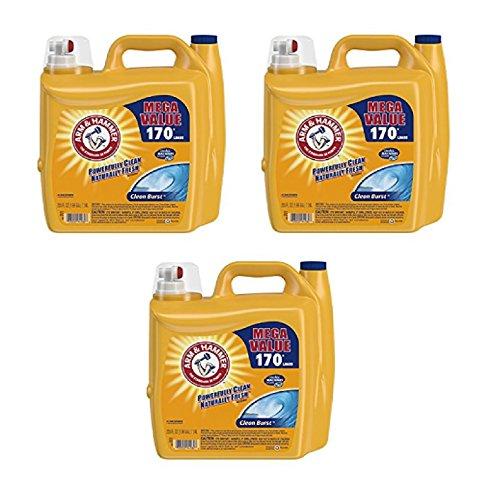 ARM & HAMMER Clean Burst Liquid Laundry Detergent, 255 fl oz FAST SHIPPING (3) ()