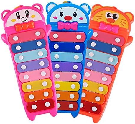 木琴 子供 ガールズボーイズのための音楽のおもちゃ赤ちゃんのミニミュージシャン木琴Aギフト玩具 幼児楽器 パーカッション打楽器 (色 : Orange, Size : 11x25cm)