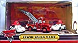 Disney / Pixar CARS Movie 2009 SDCC San Diego Comic-Con Exclusive 1:55 Die Cast Car 3-Pack Rescue Squad (Firetruck Mater and Dalmation Mia and Tia) by Mattel