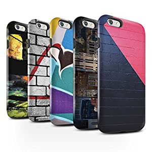 STUFF4 Gloss Tough Shock Proof Phone Case for Apple iPhone 6S / Pack 12pcs / Urban Street Art Collection