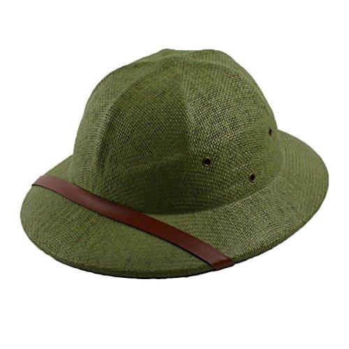 Novelty Helmet Pith Straw Hats for Men VC Vietnam War Army Sun Hat Caps -