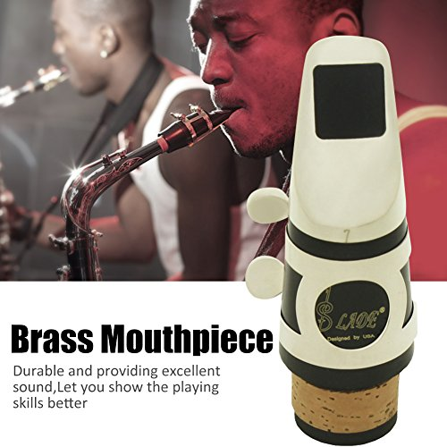 Clarinet Brass B-flat Flute Head Mouthpiece Cap Cover Protector with Patches Pads Clean Cloth Brush Accessory(Silver) by Tbest (Image #1)