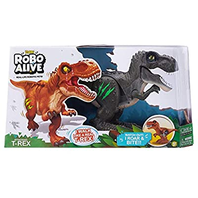 Robo Alive - Attacking T-Rex Battery-Powered Robotic Toy (Assorted Color): Toys & Games