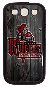 Rutgers Scarlet Knights wood background Samsung Galaxy S3 I9300 Case, Black Case for Samsung Galaxy S3 I9300, diy custom Samsung Galaxy S3 I9300