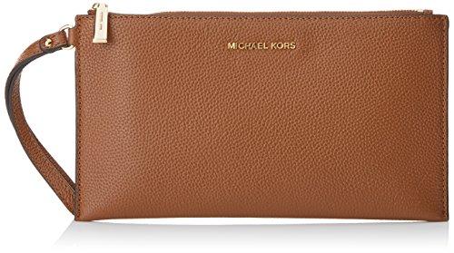 Michael Kors Mercer Large Zip Clutch, Pochettes femme, Marrón (Luggage), 1x13.5x25 cm (L x H L)