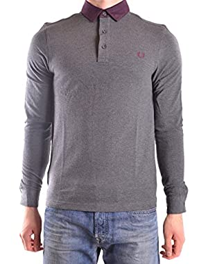 Men's MCBI128193O Grey Cotton Polo Shirt