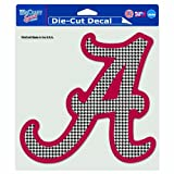 WinCraft NCAA Alabama Crimson Tide Hounds-tooth 8-by-8 Inch Diecut Colored Decal
