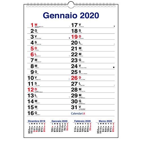 Scadenze Fiscali 2020 Calendario.Calendario 2020 Da Muro Mod Xl Con Piu Spazio Per Scrivere
