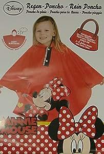 Disney Minnie Mouse ~ ~ Niñas ~ rojo ~ lluvia impermeable Poncho ~ viento ~ tamaño 2–6años