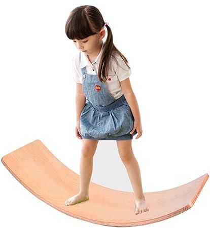 YBWEN Balancines Multifunción balancín Infantil Curvo Balance Board de Mesa Juguetes Adecuado for Vivir Sala de jardín del Patio Trasero de Juegos de Interior y al Aire Libre Las Personas Rocke: Amazon.es: