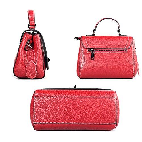 main sac à dames à paquet gamme bandoulière petit Sweet Rouge carré d'été diagonal mode haut paquet en Lady Sacs cuir de JUNBOSI 5EnwqvS5