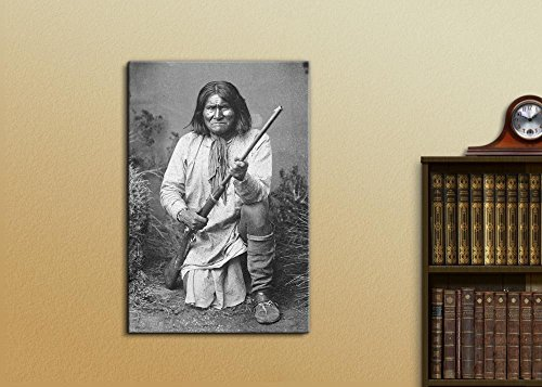 Portrait of American Indian Chief Goyaale Geronimo Inspirational Famous People Series