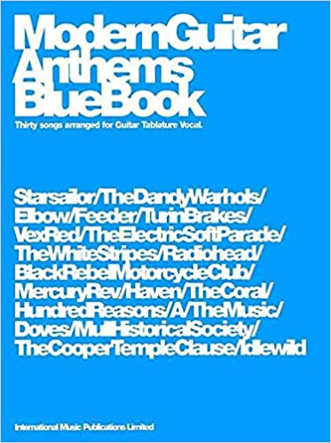 Modern Guitar Anthems Blue Book Guitar Tab Gtab: Amazon.co.uk ...