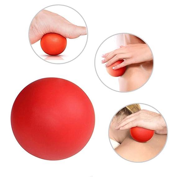 WINOMO 2pcs masaje de la bola de lacrosse bola sólida de silicona ...
