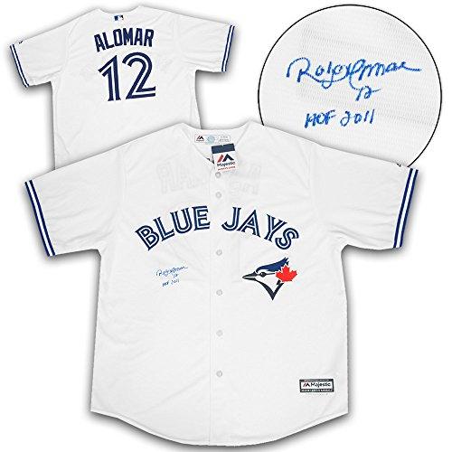 - AJ Sports World Roberto Alomar Toronto Blue Jays Autographed Replica Baseball Jersey w/HOF Note