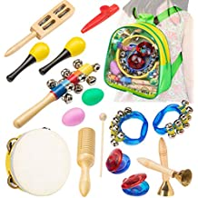 Smarkids Musical Instruments Toddler Toys Wooden Musical Toys Percussion Preschool Set Educational Learning Toys ASTM F963 CPC Certified Best Group Music Games Gift 3 Years Boys Girls