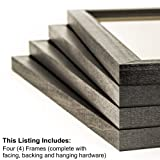Craig Frames 7171610BK 8 by 10-Inch Picture Frame 4-Piece Set, Solid Wood, .84-Inch Wide, Black