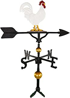 product image for Montague Metal Products 32-Inch Deluxe Weathervane with Color Rooster Ornament