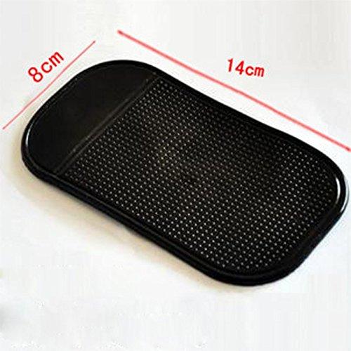 Demarkt Tapis Collant Anti-Derapant Anti-Glisse en Silicone pour tenir Telephone tableau de bord voiture Noir