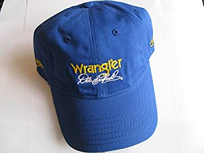 NASCAR Dale Earnhardt #3 Wrangler Jeans Blue & Yellow Hat Cap One Size Fits Most OSFM Adjustable Velcro Strap by HW