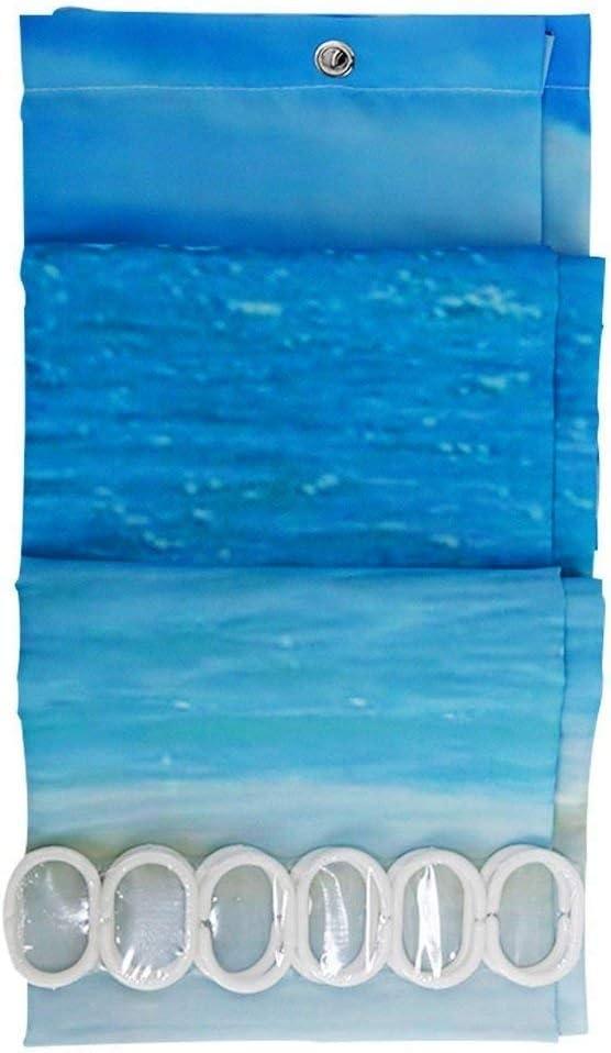 YONG-SHENG Cortina De Ducha Impermeable Resistente al MohoTela De Poli/éster Cortina De Ba/ño De Impresi/ón Digital Cortinas de Ba/ño180 x 180cm