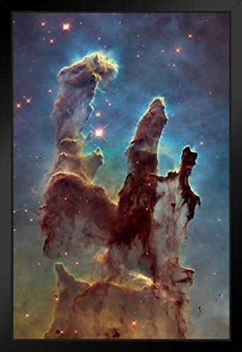 Pillars of Creation Photo Art Print Framed Poster 14x20 inch ()