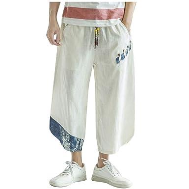 Pantalones Hombre Verde Pantalones Vakeros Bombachos Pantalones ...