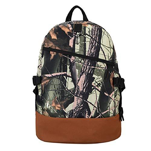 Men Large Capacity Backpack Printing School Bag Laptop Bookbags Cool College Backpack College Campus Bag by Lowprofile Brown