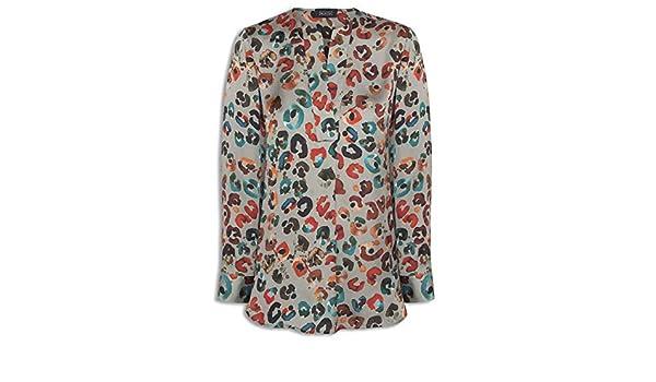 Mirto Blusa Gris Estampado Colores para Mujer 46: Amazon.es: Ropa y accesorios