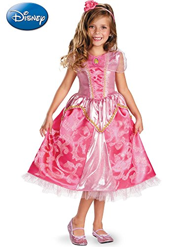 Disguise Disney's Sleeping Beauty Aurora Sparkle Deluxe Girls Costume, 4-6X from Disguise