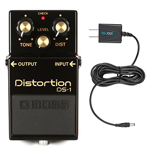 Boss DS-1-4A 40th Anniversary Distortion Pedal - Limited Edition - INCLUDES - Blucoil Power Supply Slim AC/DC Adapter for 9 Volt DC 670mA (Logo Dc Guitar)