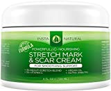 Stretch Mark & Scar Cream - Formula for Scar Removal & Prevention for Men & Women - Natural & Organic Moisturizing Body Cream Treatment - Great for Before & After Pregnancy - InstaNatural - 4 OZ