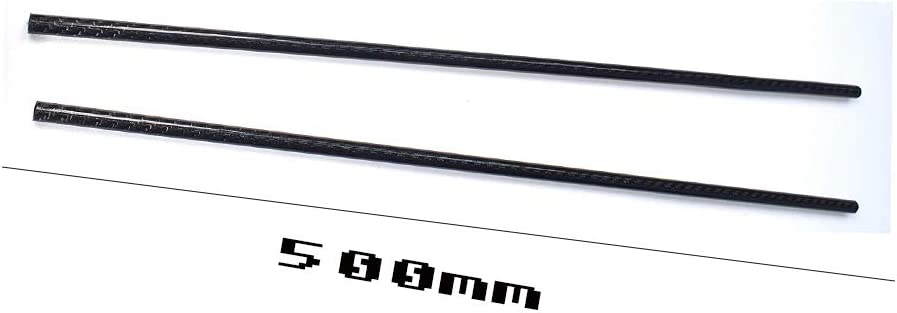 SOFIALXC 3K Roll Wrapped Carbon Fiber Tube Glossy Surface ,14x12mm,500mm 2 PCS