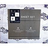 Max Studio Kids 3 Piece Twin Sheet Set Fire Trucks Blue on White