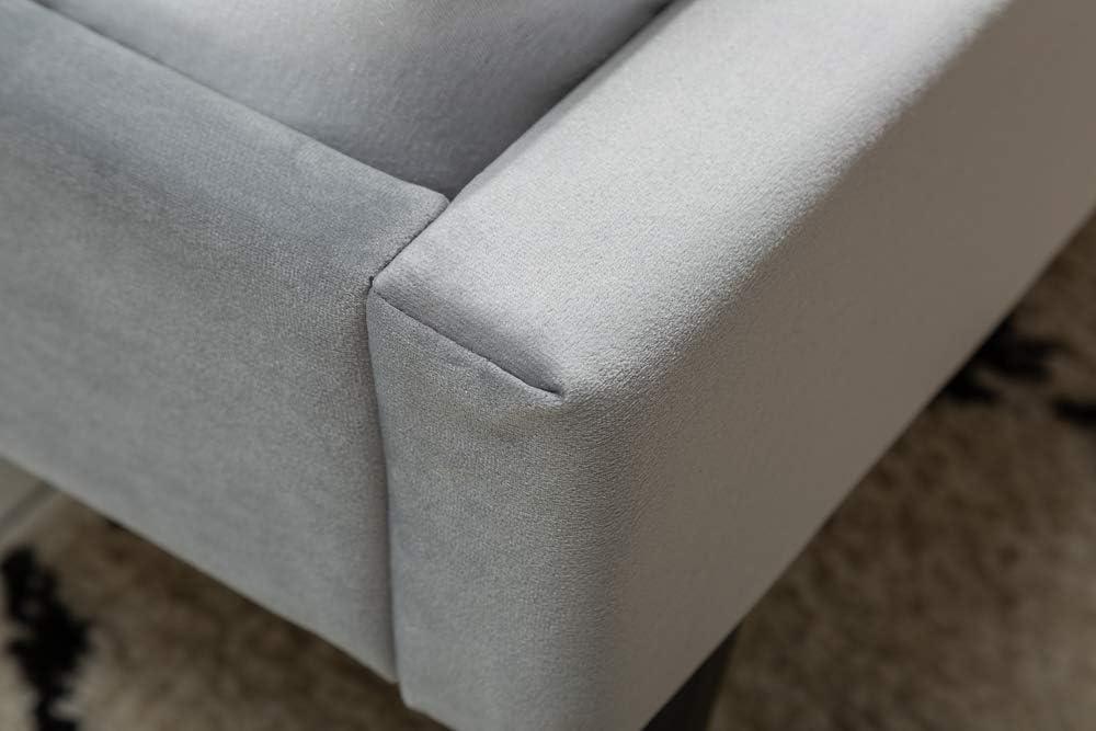 Invicta Interior Elegantes Bett Famous 140x200cm Altrosa Samt goldene F/ü/ße Retro Design Polsterbett Doppelbett
