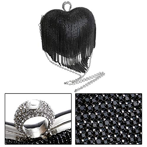 Purse Bags Wedding Chain Diamonds Black Womens Clutch For Evening Dress Handbag gwY7II