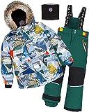 Deux par Deux Boys' 2-Piece Snowsuit Rock The Mountain Green, Sizes 4-14 - 5