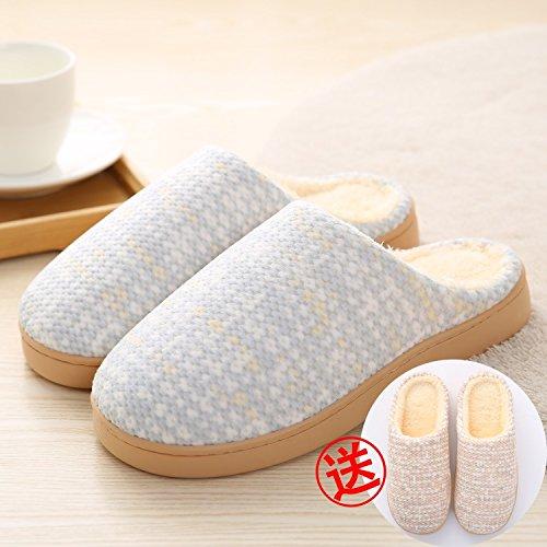 LaxBa Donna Uomo Indoor pattino antiscivolo pantofole blu chiaro acquista3738 femmina+la ragazza3536
